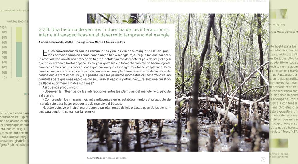 A pie de manglar. Diseño editorial por UyMl