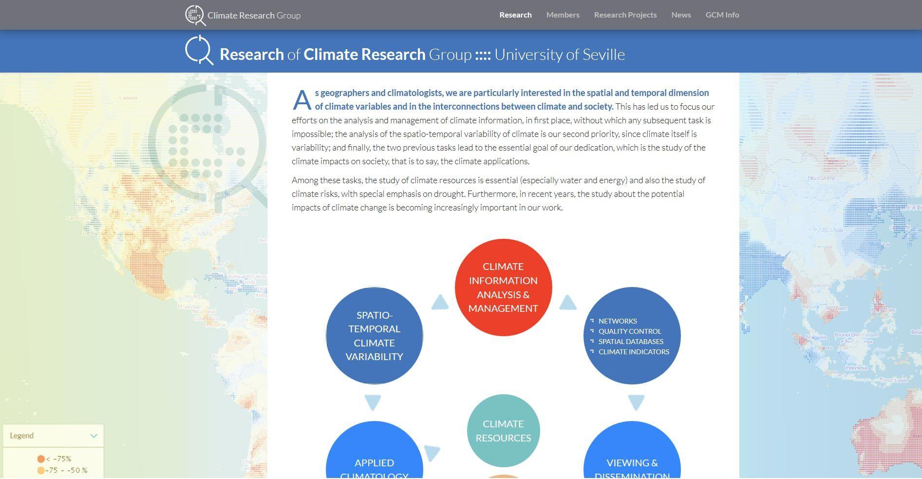 Global Climate Monitor, diseño y desarrollo web por UyM