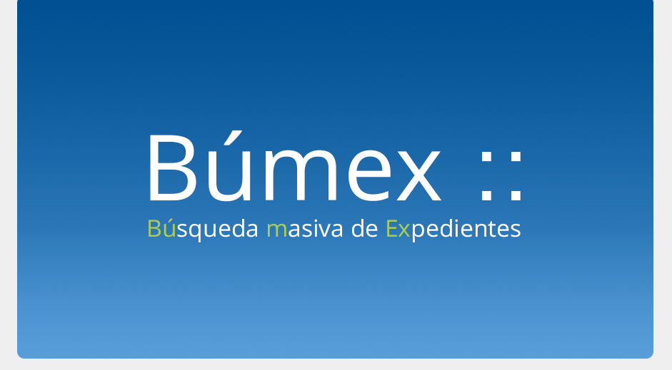 Búmex, aplicación por Sergio Pérez-Pedrero