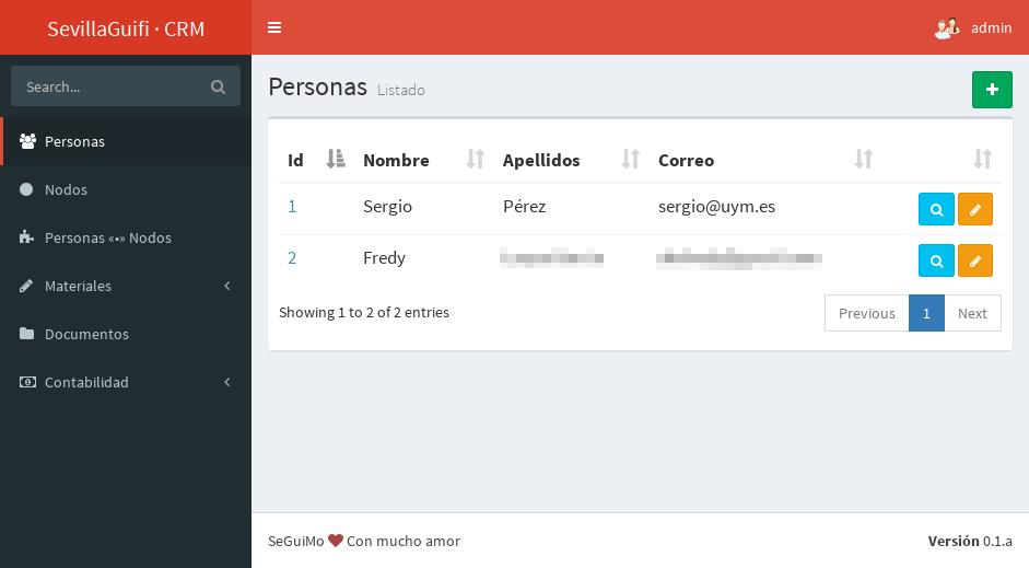 CRM para SevillaGuifi por Sergio Pérez-Pedrero