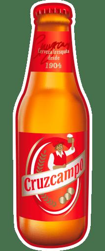 Botellín de Cruzcampo para Telegram