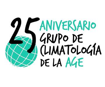 Logo del 25 Aniversario del Grupo de Climatología, por UyM