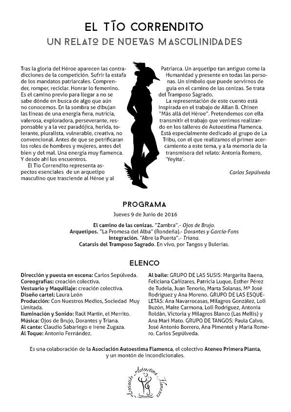 Cartel Nuevas Masculinidades: El Tío Correndito por UyM