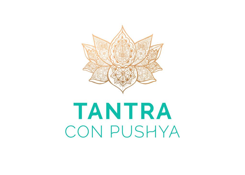 Web y logo tantraconpushya.es por UyM