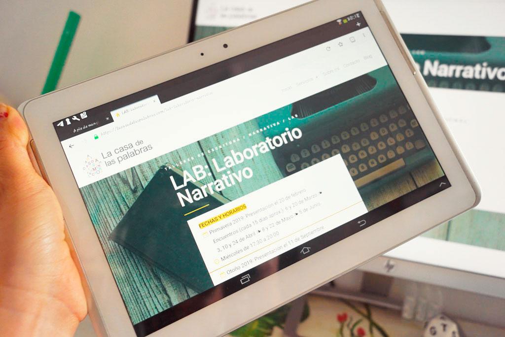 Web La Casa de las Palabras (tablet)