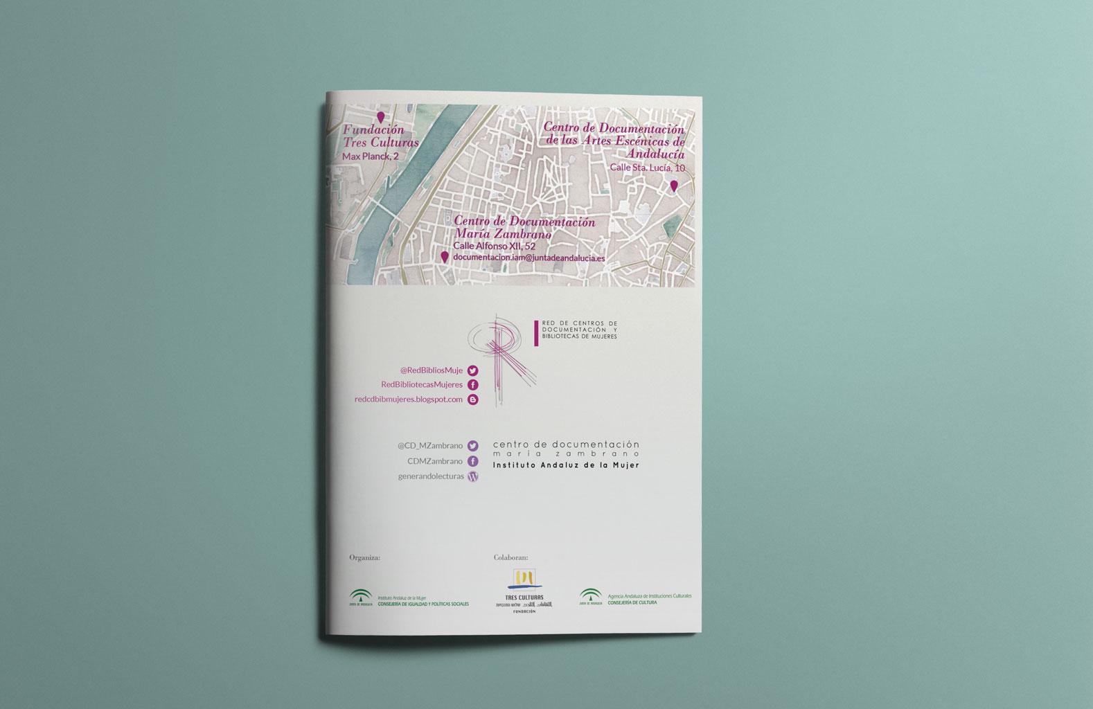 Programa del XXV Encuentro de la Red de Centros de Documentación y Bibliotecas de Mujeres. UyM y Violeta Asensio.